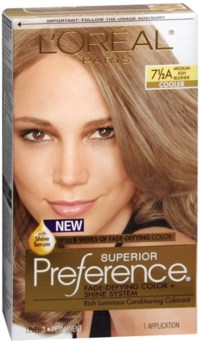 L'Oreal Superior Preference Hair Color [7-1/2A] Medium Ash ...