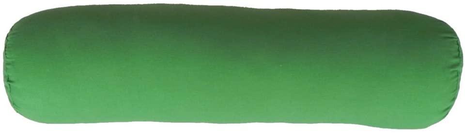 yoga meditation back bolster cushion lumbar support firm pillow restorative green