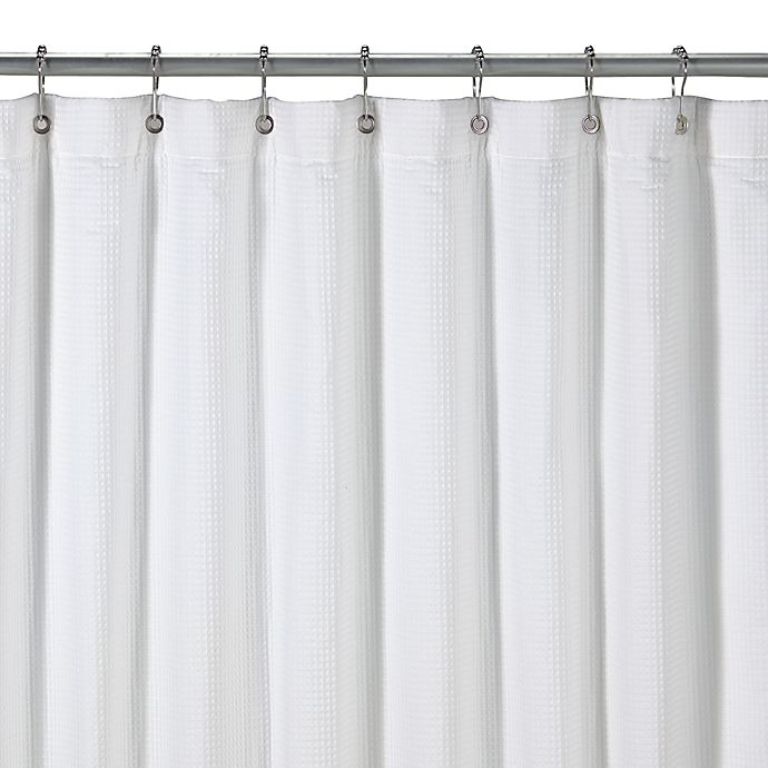 hotel terry white shower curtain