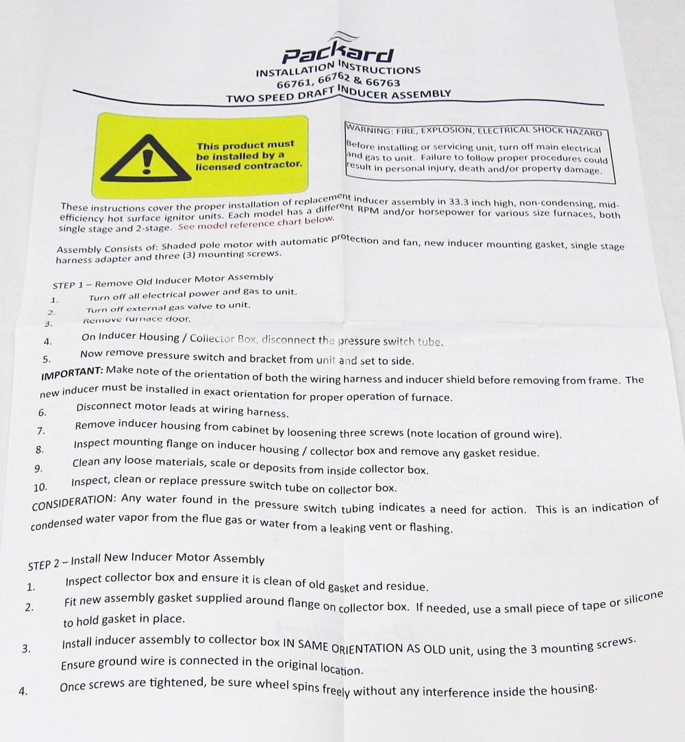 medium resolution of packard draft inducer fan furnace blower motor for carrier 326628 762 walmart com