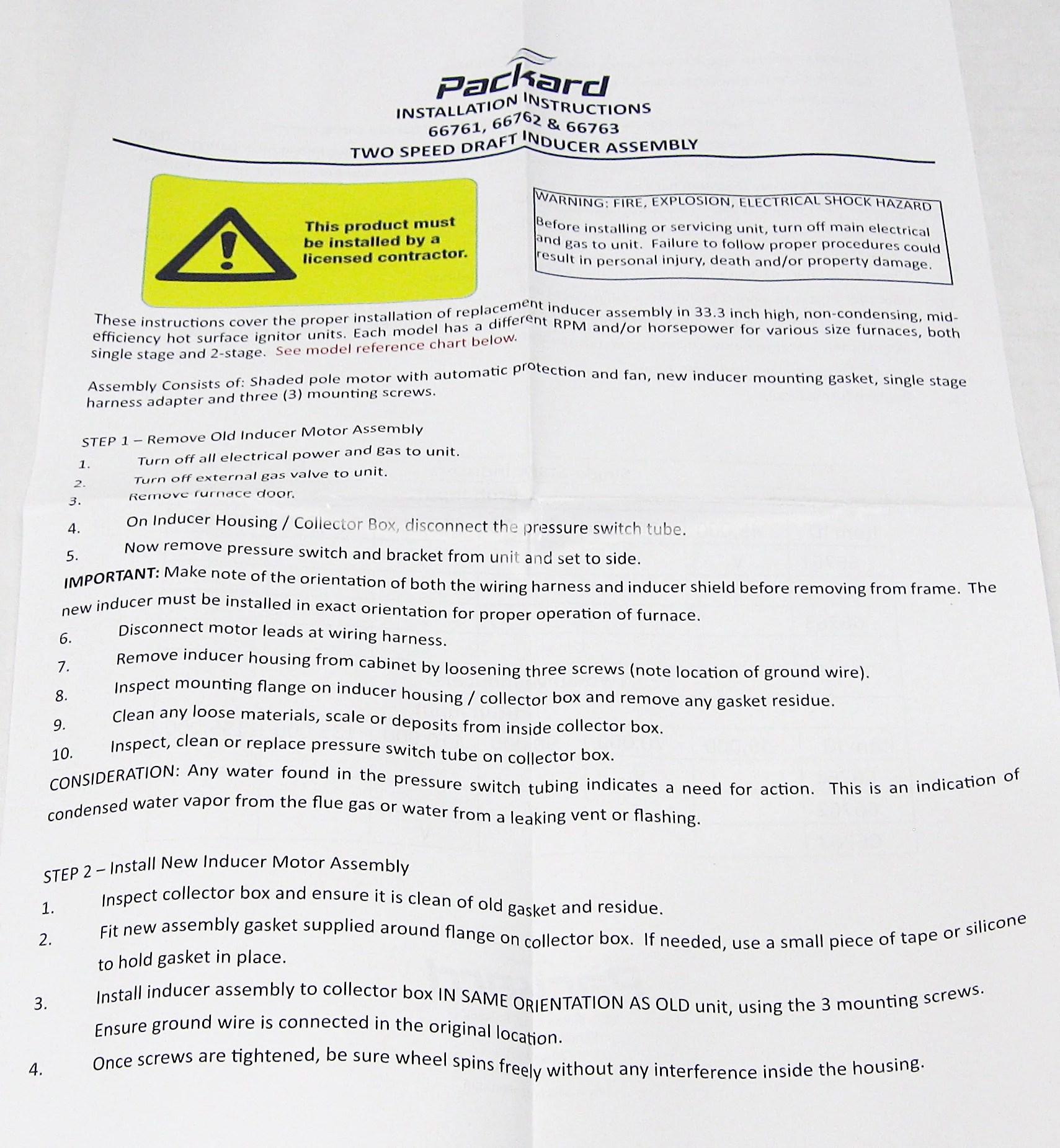 hight resolution of packard draft inducer fan furnace blower motor for carrier 326628 762 walmart com