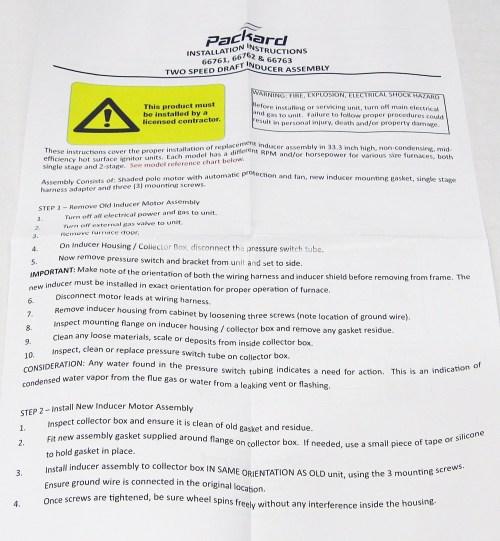 small resolution of packard draft inducer fan furnace blower motor for carrier 326628 762 walmart com