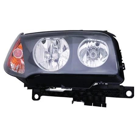 CarLights360: For 2004 2005 2006 BMW X3 Head Light Assembly Passenger Side w/Bulbs (Black Housing) - Replacement for BM2503139 - Walmart.com ...
