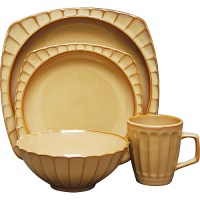 Sango Society Beige 16-Piece Dinnerware Set - Walmart.com