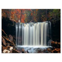 Autumn Waterfall with Colorful Foliage - Modern Landscape ...