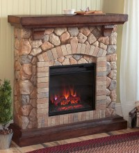 Stacked Stone Electric Fireplace Heater / Ventless ...