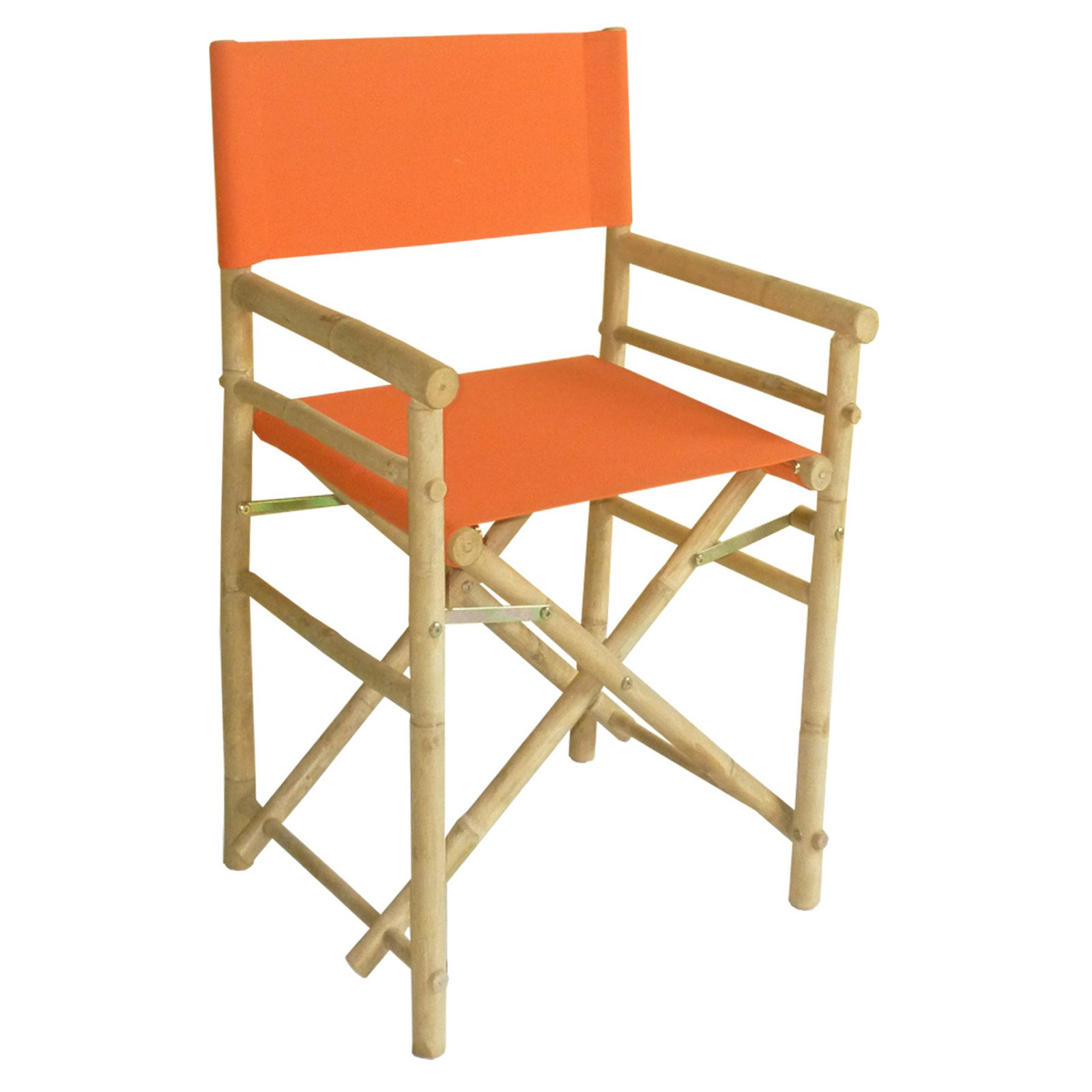 Bamboo Chairs Bamboo 18 Inch Standard Height Directors Chairs With Solid Cover Set Of 2