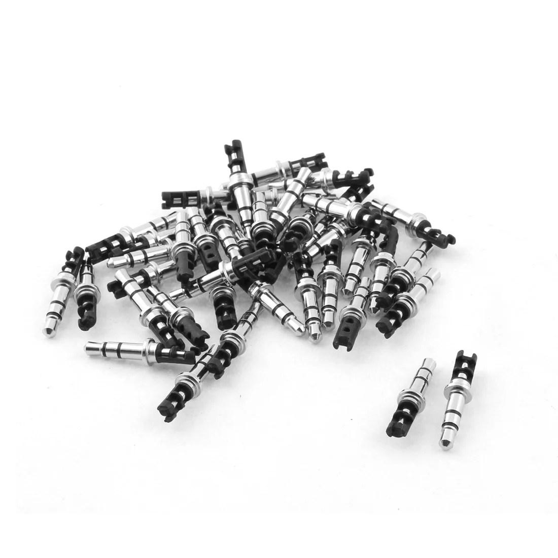medium resolution of 3 5mm stereo male plug repair audio headphone jack solder connector black 40pcs