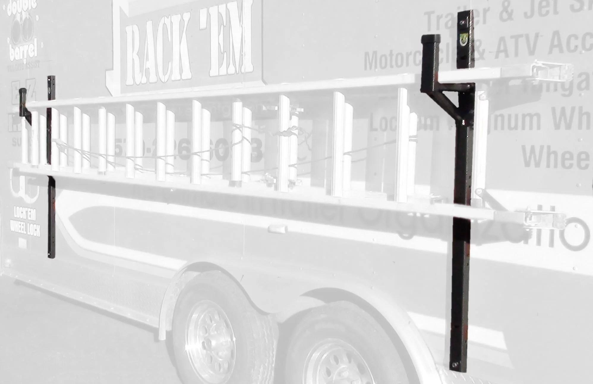 enclosed trailer exterior side wall ladder rack by pack em walmart com