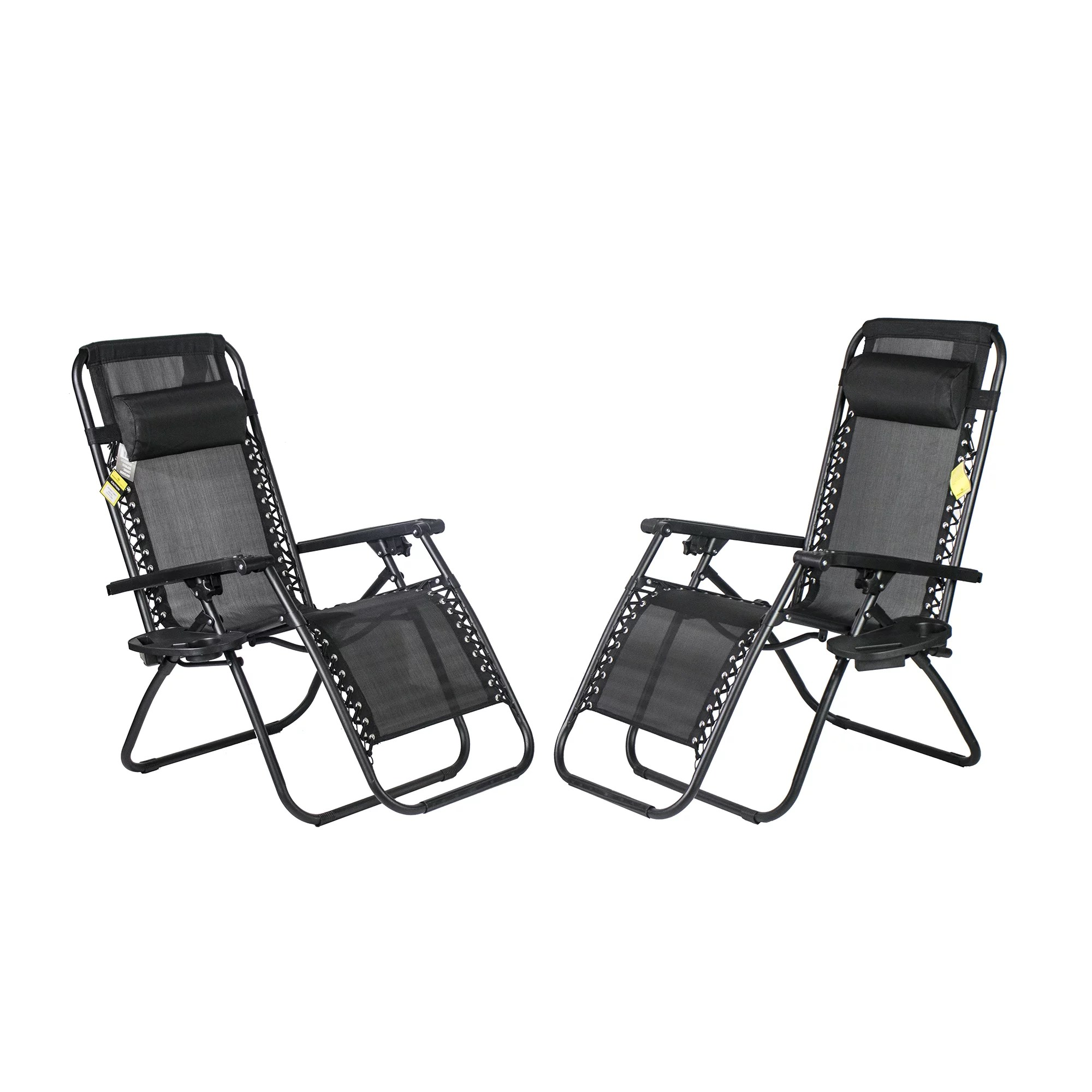 sonoma anti gravity chair review pride electric lift repair zero chairs walmart com product image backyard expressions w pillow and cupholder 2 pack