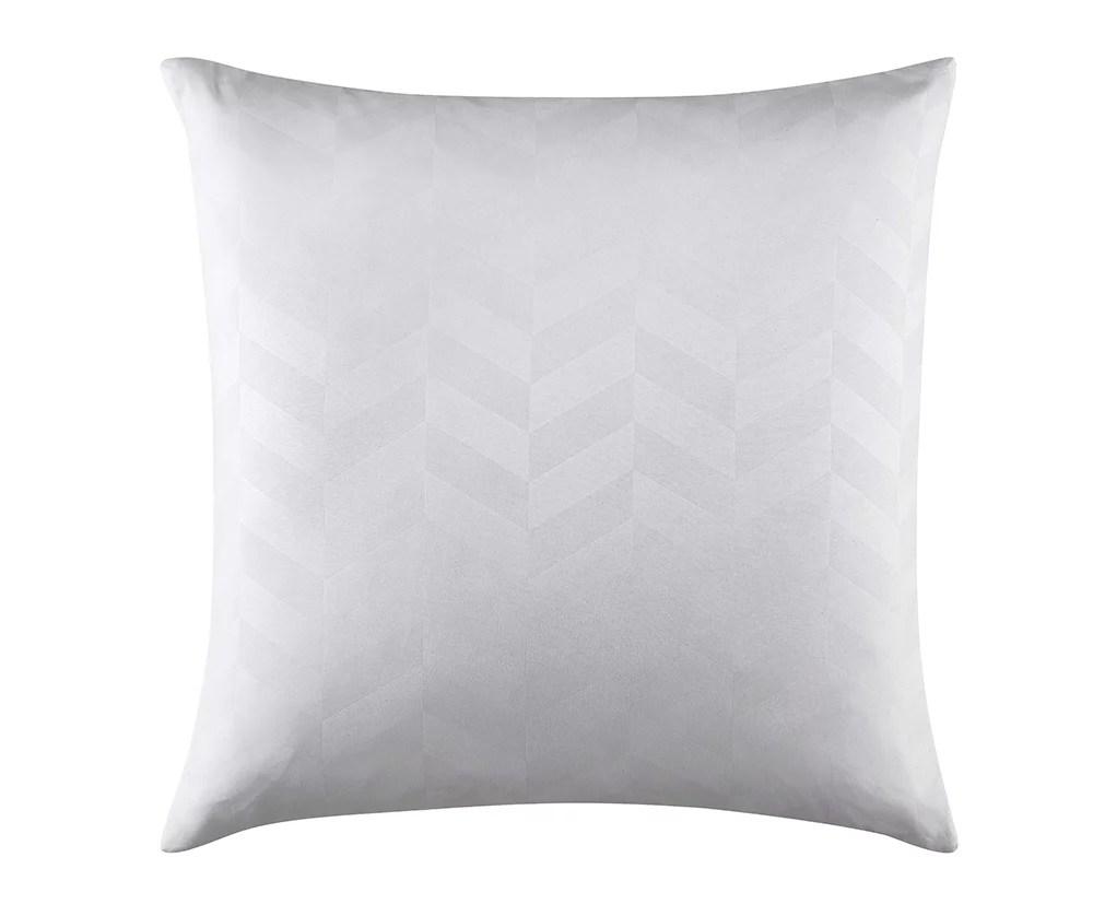 better homes gardens embossed herringbone square euro pillow 26 x 26 white