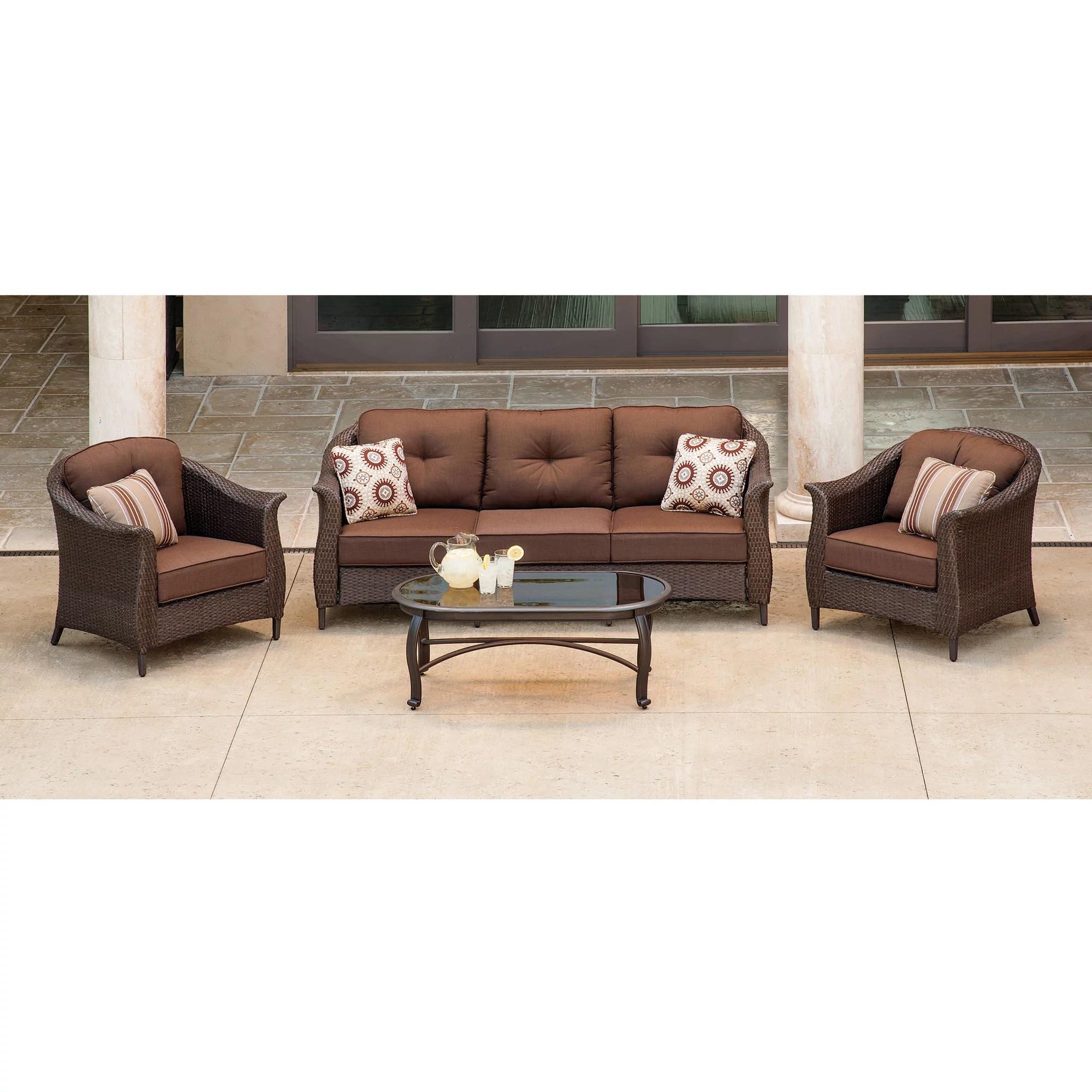 black outdoor sofa leather italia and loveseat 7pc patio garden wicker furniture rattan set
