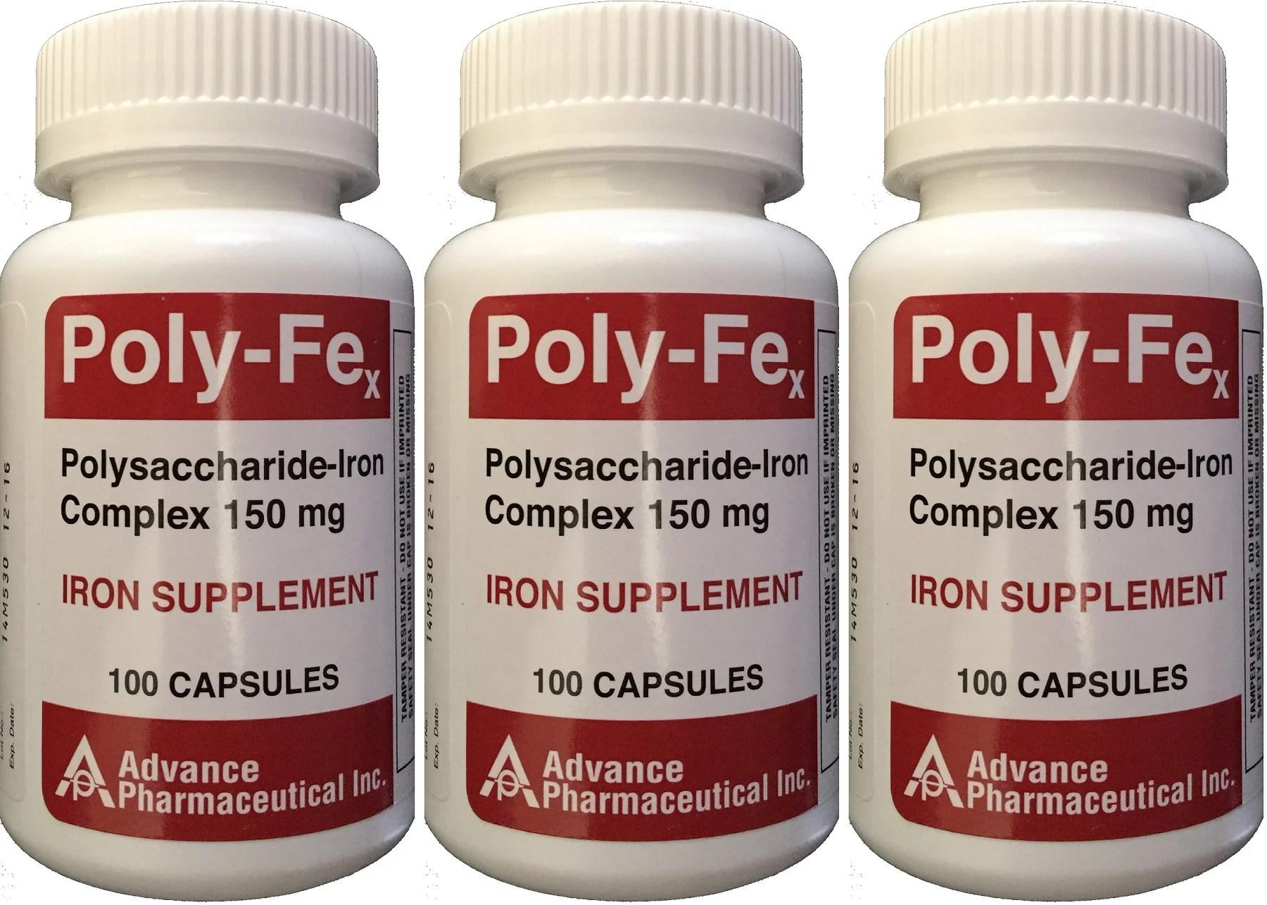 Polysaccharide Iron Complex 150 mg Capsules Iron ...