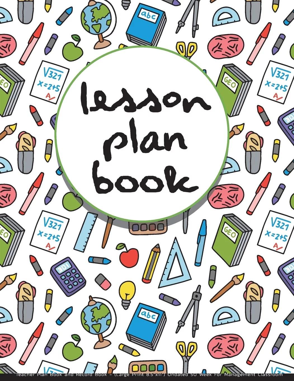 Lesson Plan Book Teacher Plan Book And Record Book