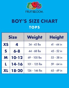 Fruit of the loom classic white crew  shirts pack little boys  big walmart also rh