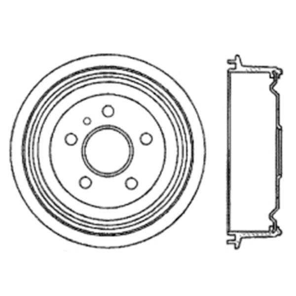OE Replacement for 2000-2000 Saturn LS2 Rear Brake Drum