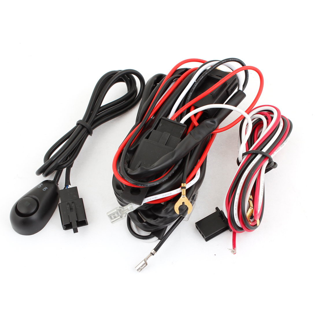 hight resolution of unique bargains universal fog light wire wiring harness kit w control switch w fuse walmart com