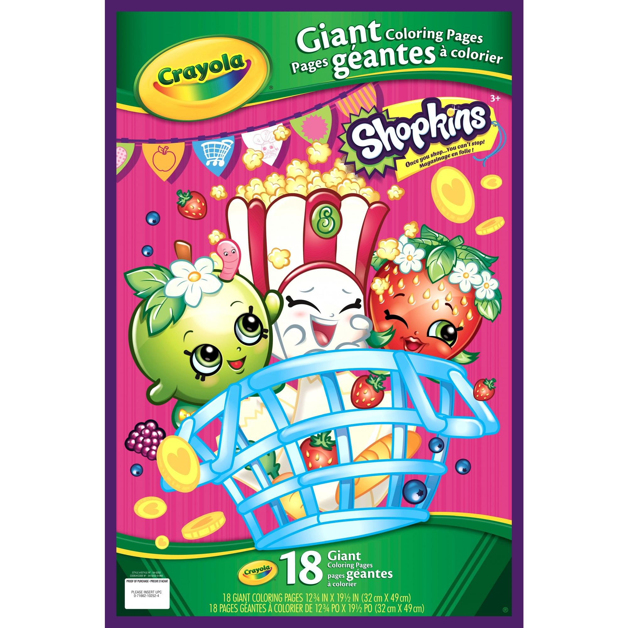 Crayola Shopkins Giant Coloring Pages 18 Sheets For Ages 3