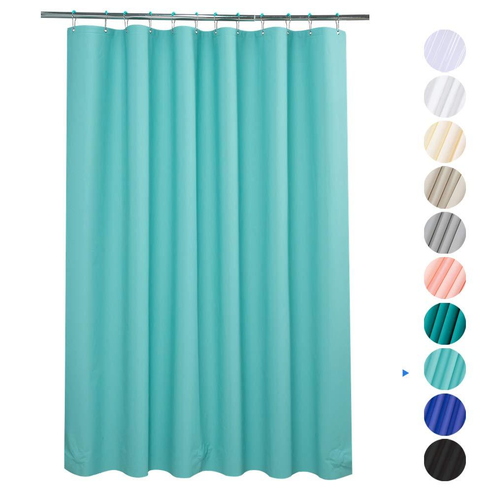 plastic shower curtain 72 w x 78 h eva 8g shower curtain with heavy duty clear stones and 12 rust resistant metal grommet holes waterproof thick