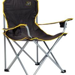 Quik Shade Chair Overstuffed And A Half With Ottoman Heavy Duty Folding Black Walmart