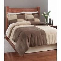 Colorblock Microsuede Comforter Set - Walmart.com