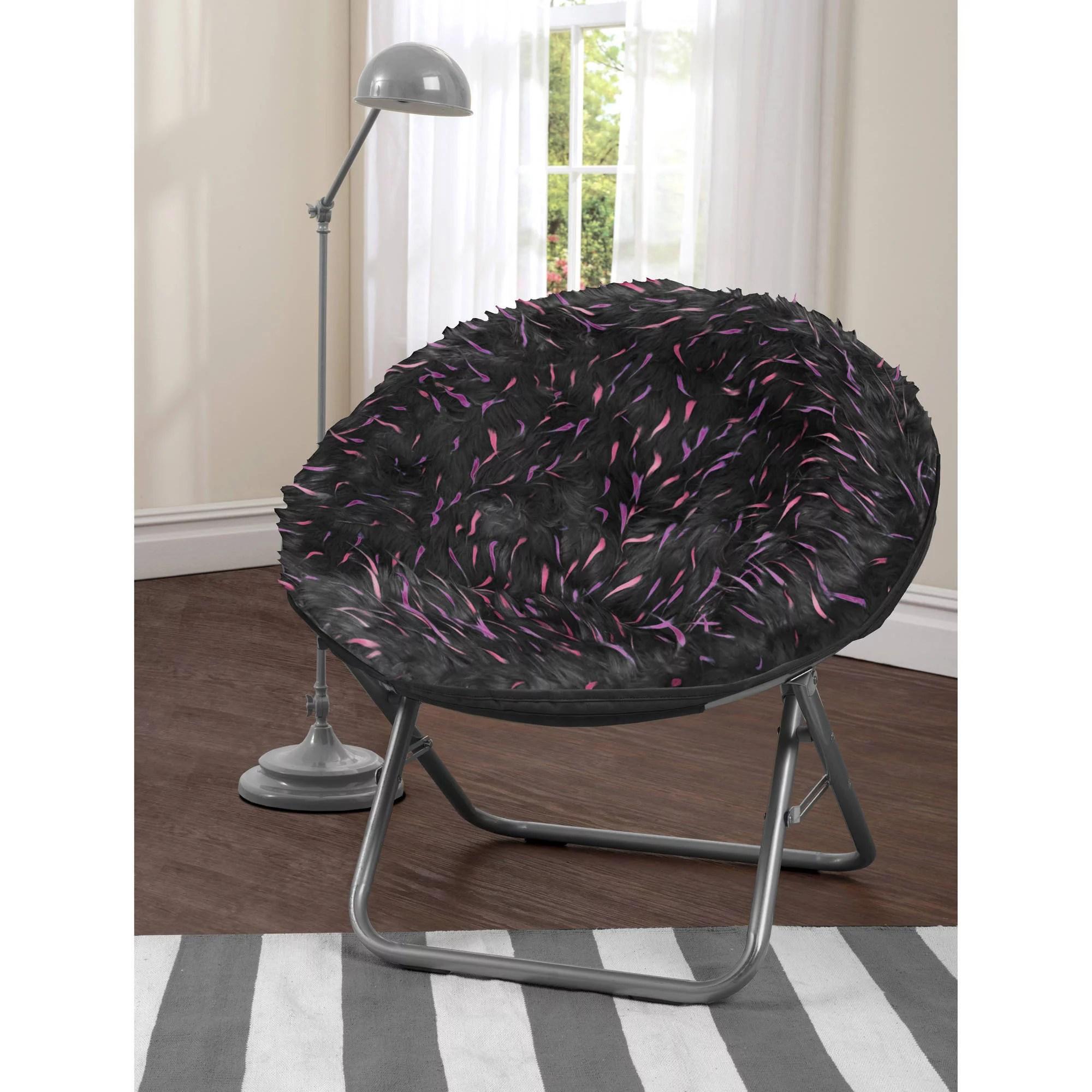 your zone spiker faux fur saucer chair multiple colors