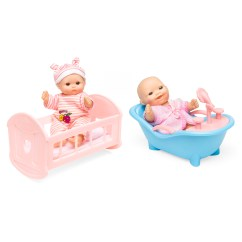 Baby Toy High Chair Set Jerry Johnson Best Choice Products Of 6 Mini Dolls W Cradle