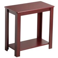 Yaheetech Espresso Chair Side Table Coffee Sofa Wooden End