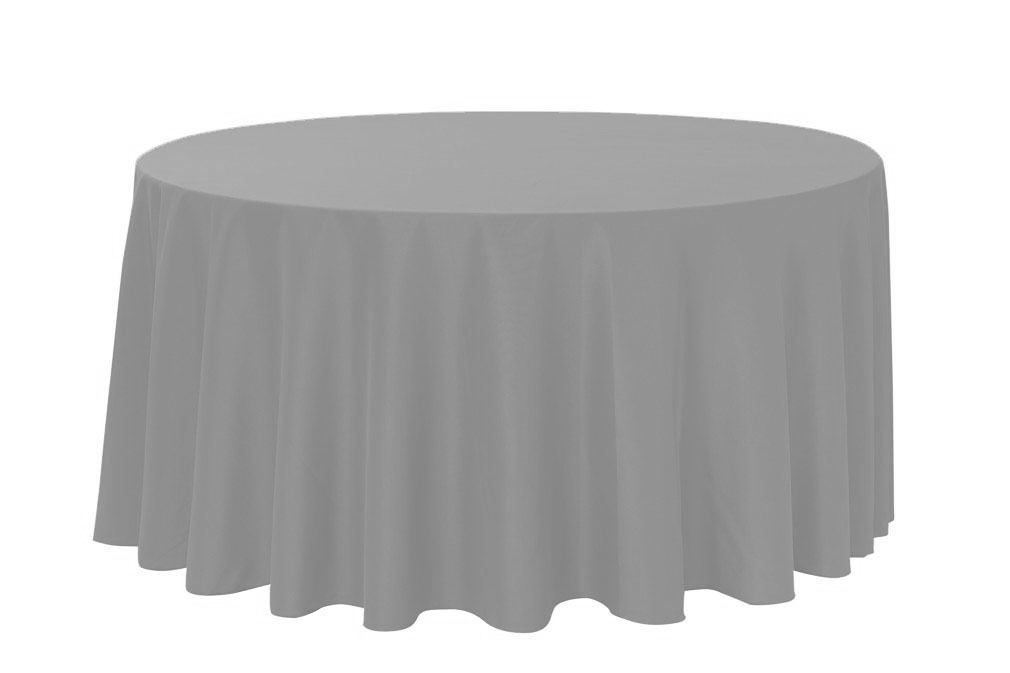 gray chair covers for weddings rocker glider your 120 inch round polyester tablecloth wedding party birthday patio etc walmart com