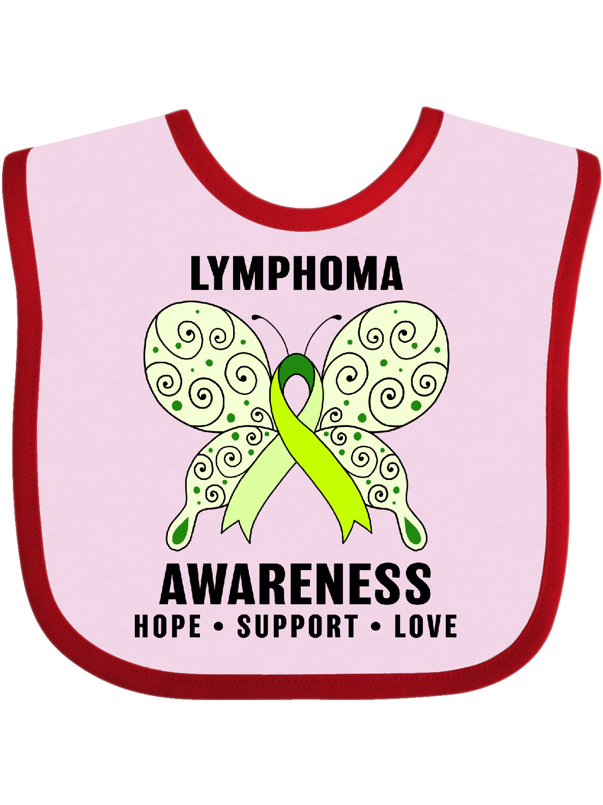 Lymphoma Awareness Hope Support and Love Baby Bib - Walmart.com - Walmart.com