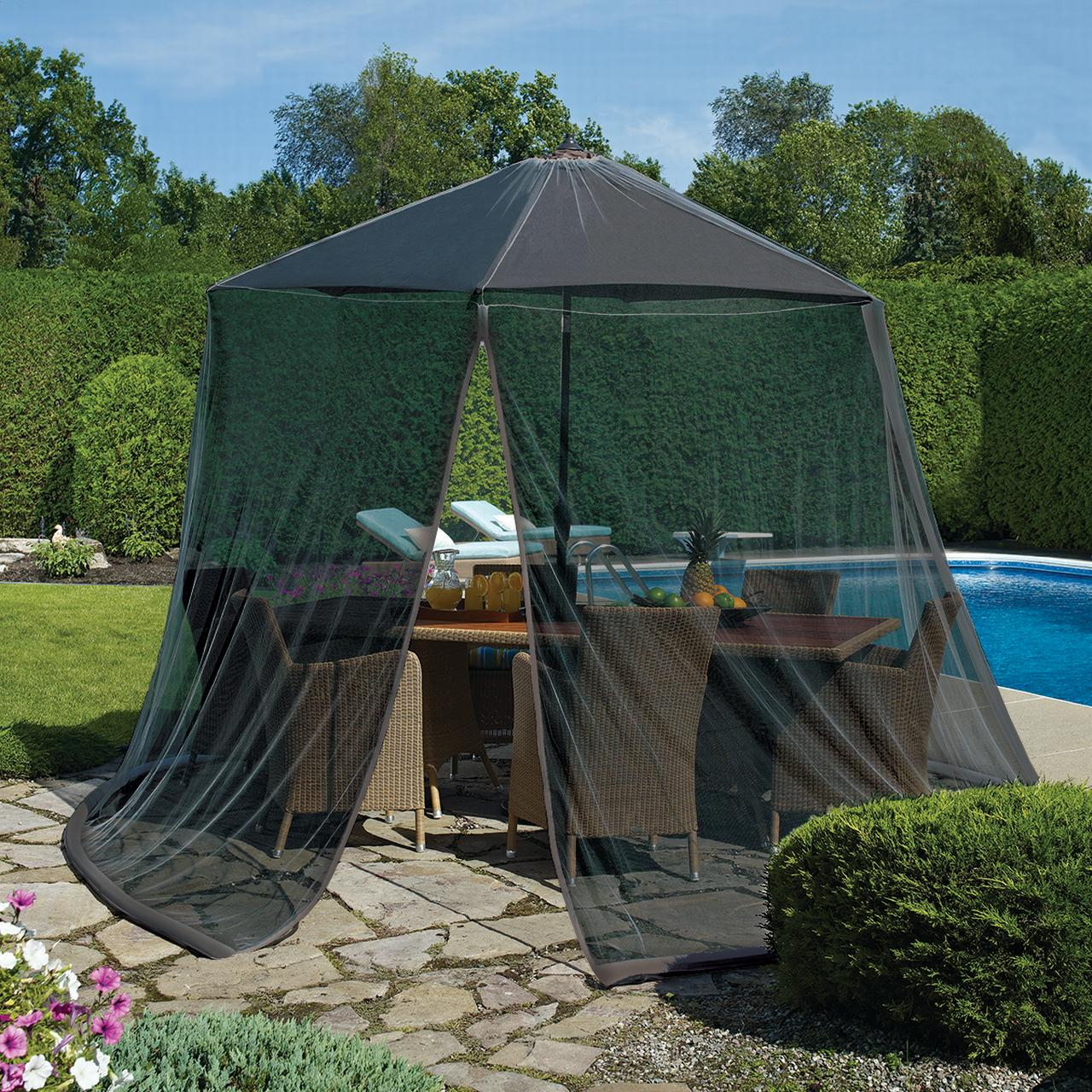 patio umbrella mosquito net for 9 patio table umbrellas furniture by pure garden