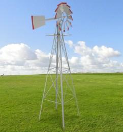 best choice products 8ft steel windmill decoration w 4 leg design [ 2600 x 2600 Pixel ]