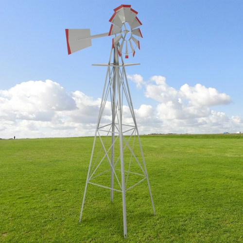 small resolution of best choice products 8ft steel windmill decoration w 4 leg design