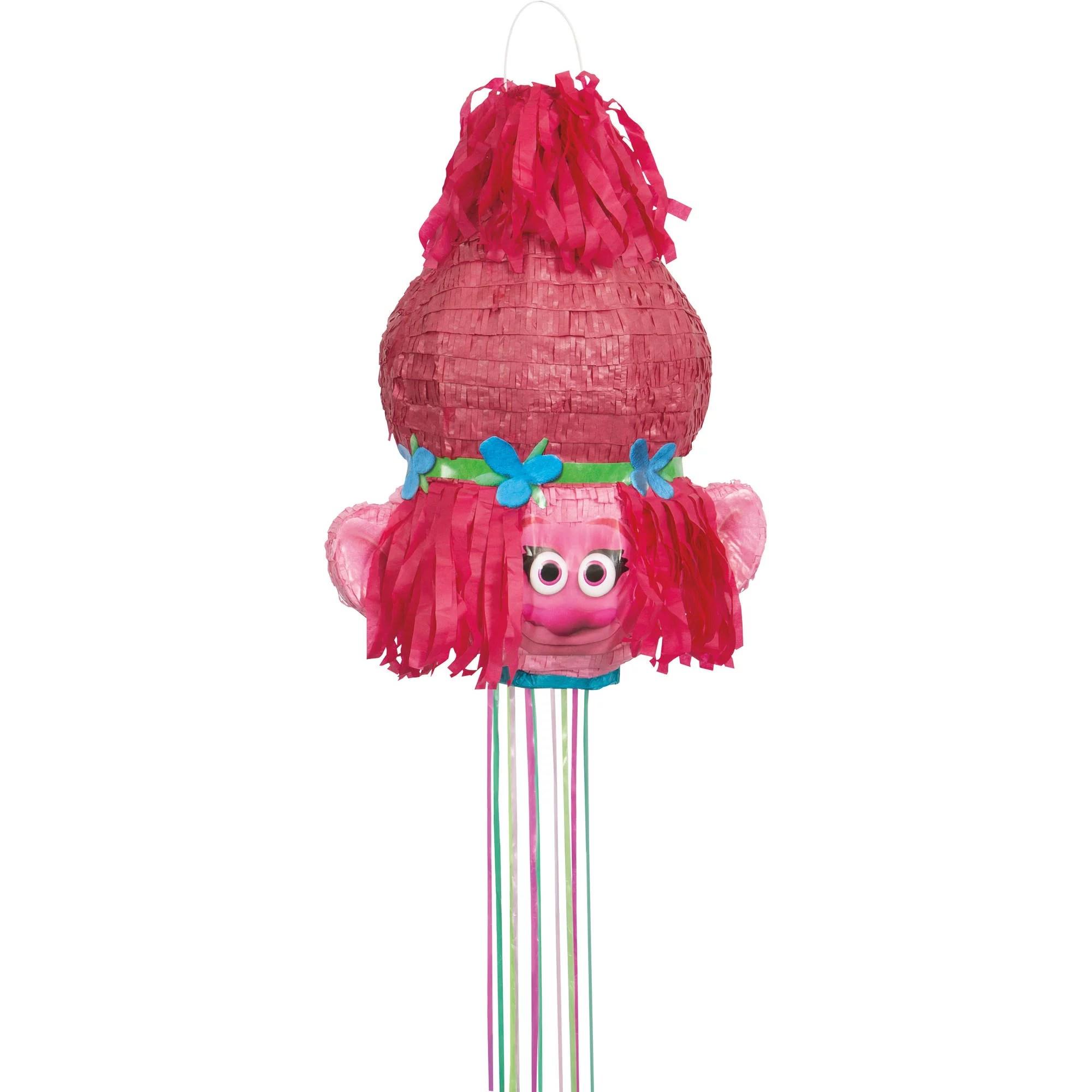 poppy trolls pinata pull string 18 5 x 14 5 in 1ct walmart com