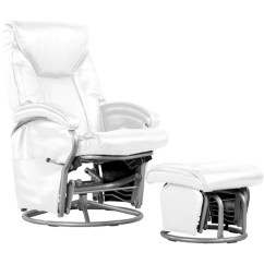 Swivel Chair Price In Bd 2nd Row Captains Chairs Shermag Bonded Leather Glider Rocker, White - Walmart.com