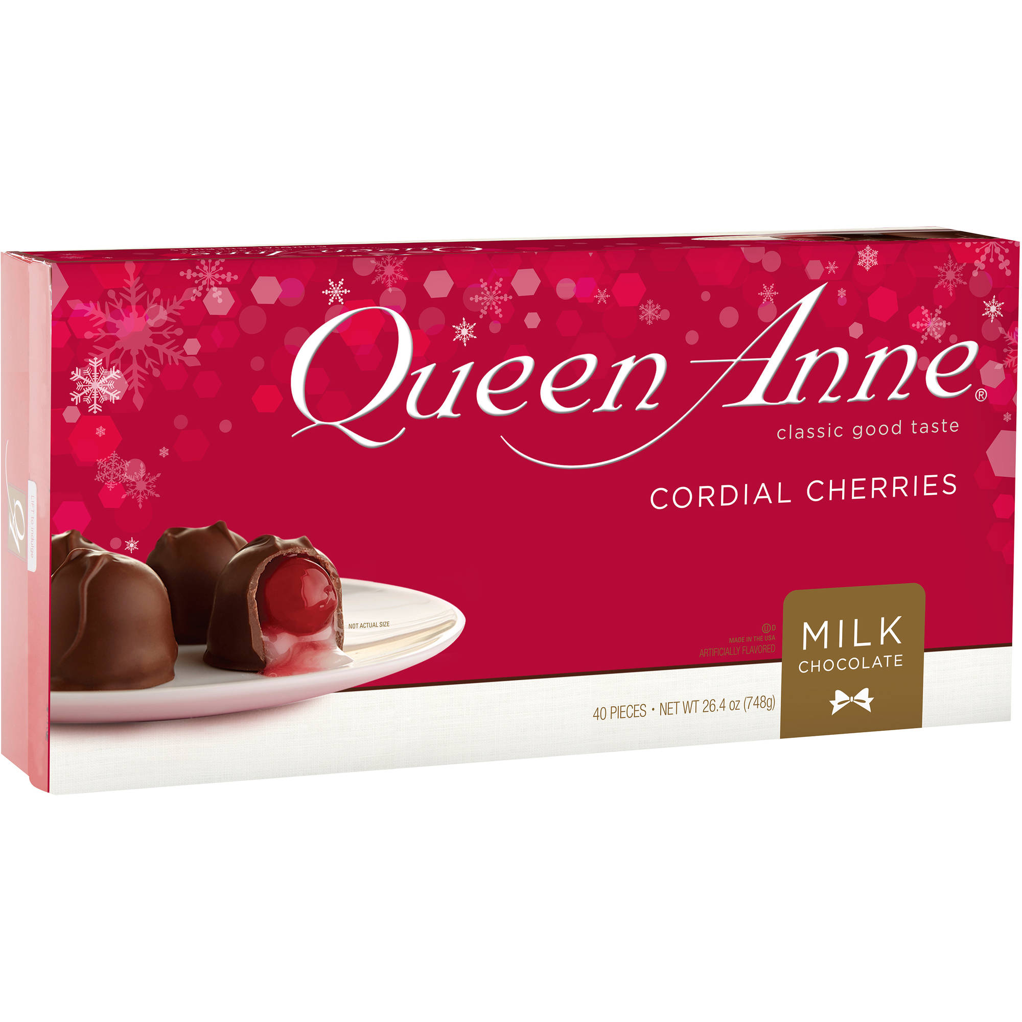 Queen Ann Holiday Milk Chocolate Cordial Cherries 264 Oz
