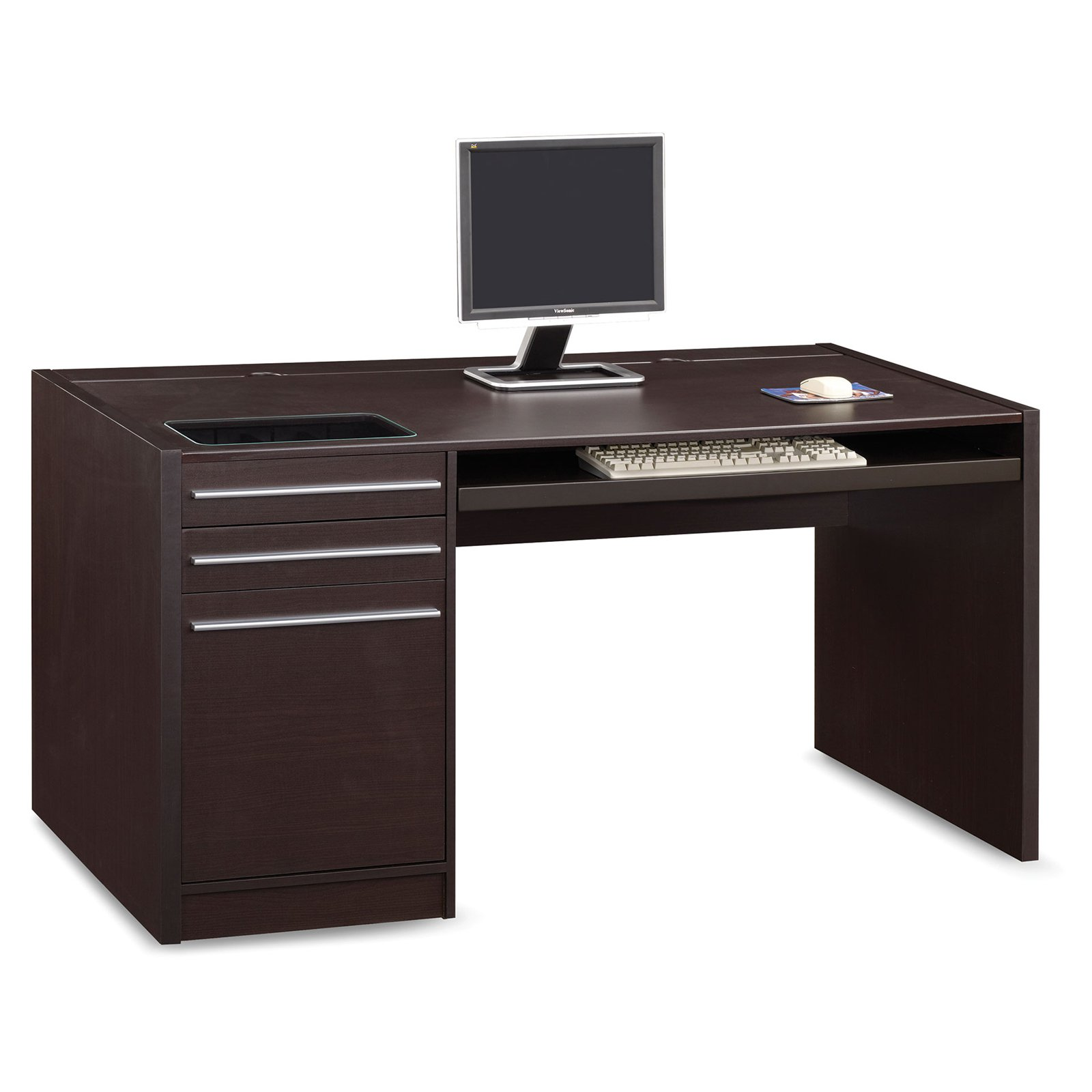 Coaster Furniture Cappuccino Computer Desk  Walmartcom