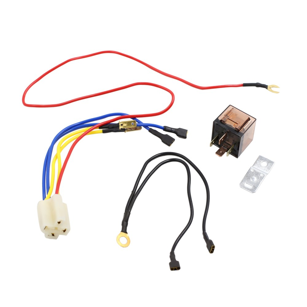 medium resolution of dc 12v 80a motorcycle car truck refit horn speaker wiring harness relay kit walmart com