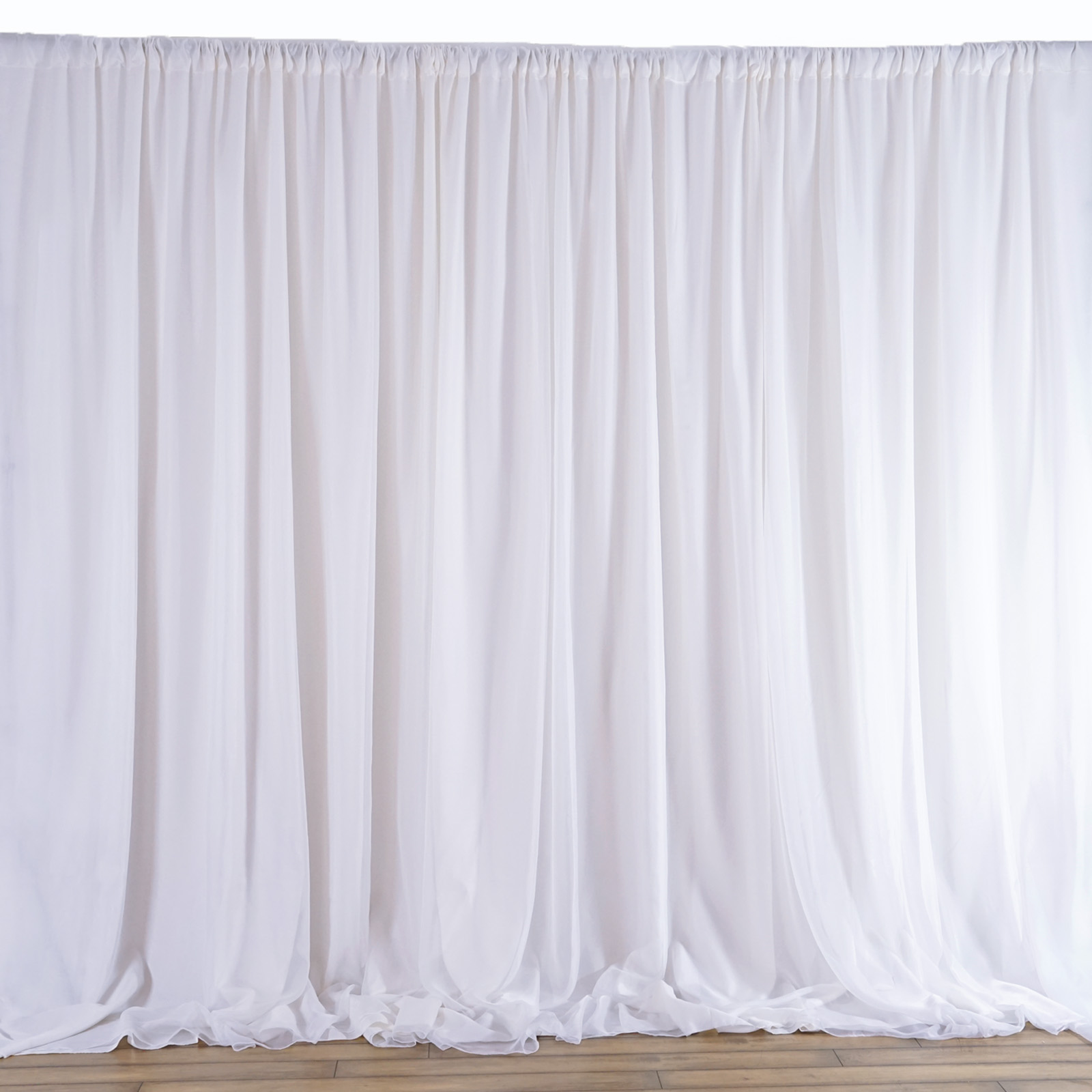 balsacircle 20 ft x 10 ft fabric backdrop curtain wedding party photobooth ceremony event photo decorations walmart com