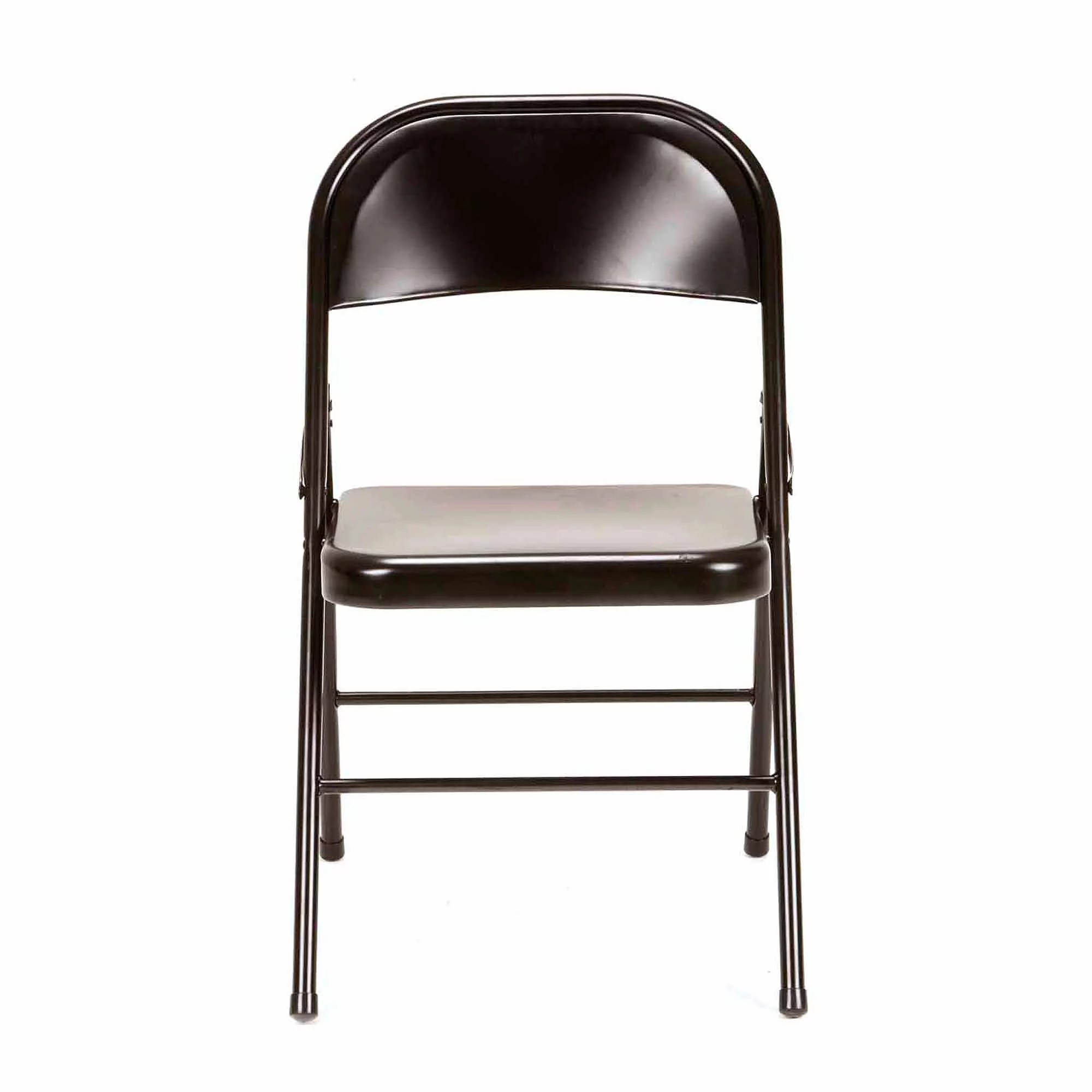 Steel Folding Chair Mainstays Steel Chair Set Of 4 Black Folding Metal