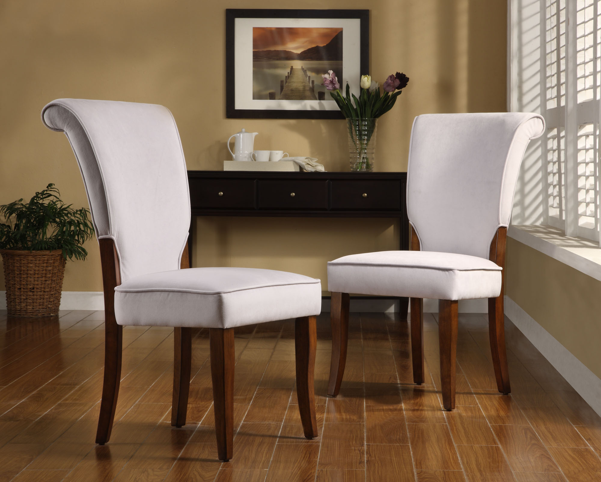 parson chairs pub table with swivel weston home alamosa velvet set of 2 gray walmart com
