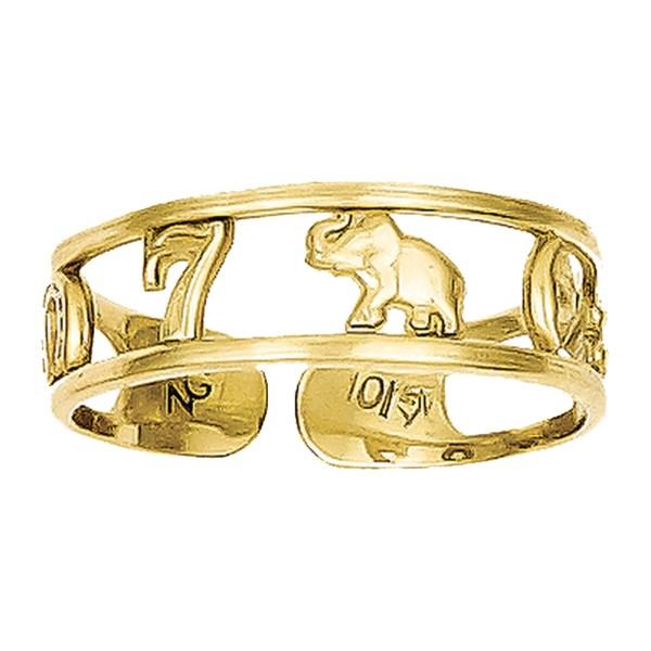 Lex & Lu - 10k Yellow Gold Luck Toe Ring