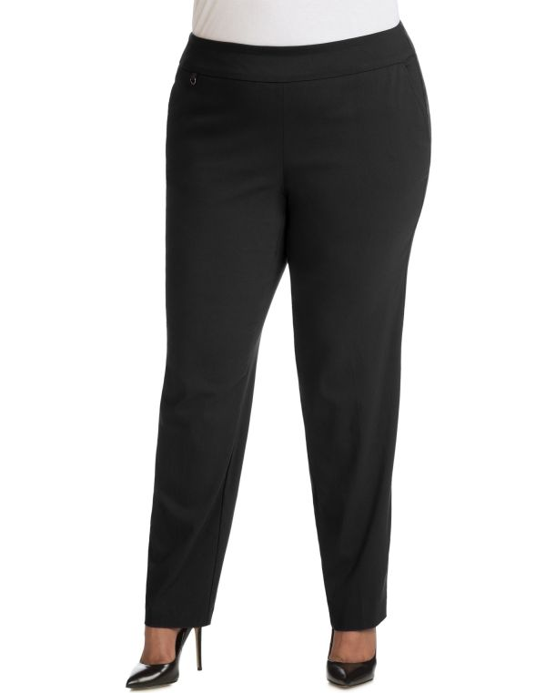 Size - Womens Super Stretch Tummy Control Pull- Slim Pants Tall Length