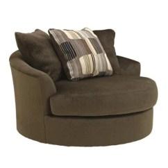 Oversized Patio Chair Cushions Barrel Back Benchcraft 1950021 Westen (chocolate) Swivel Accent - Walmart.com