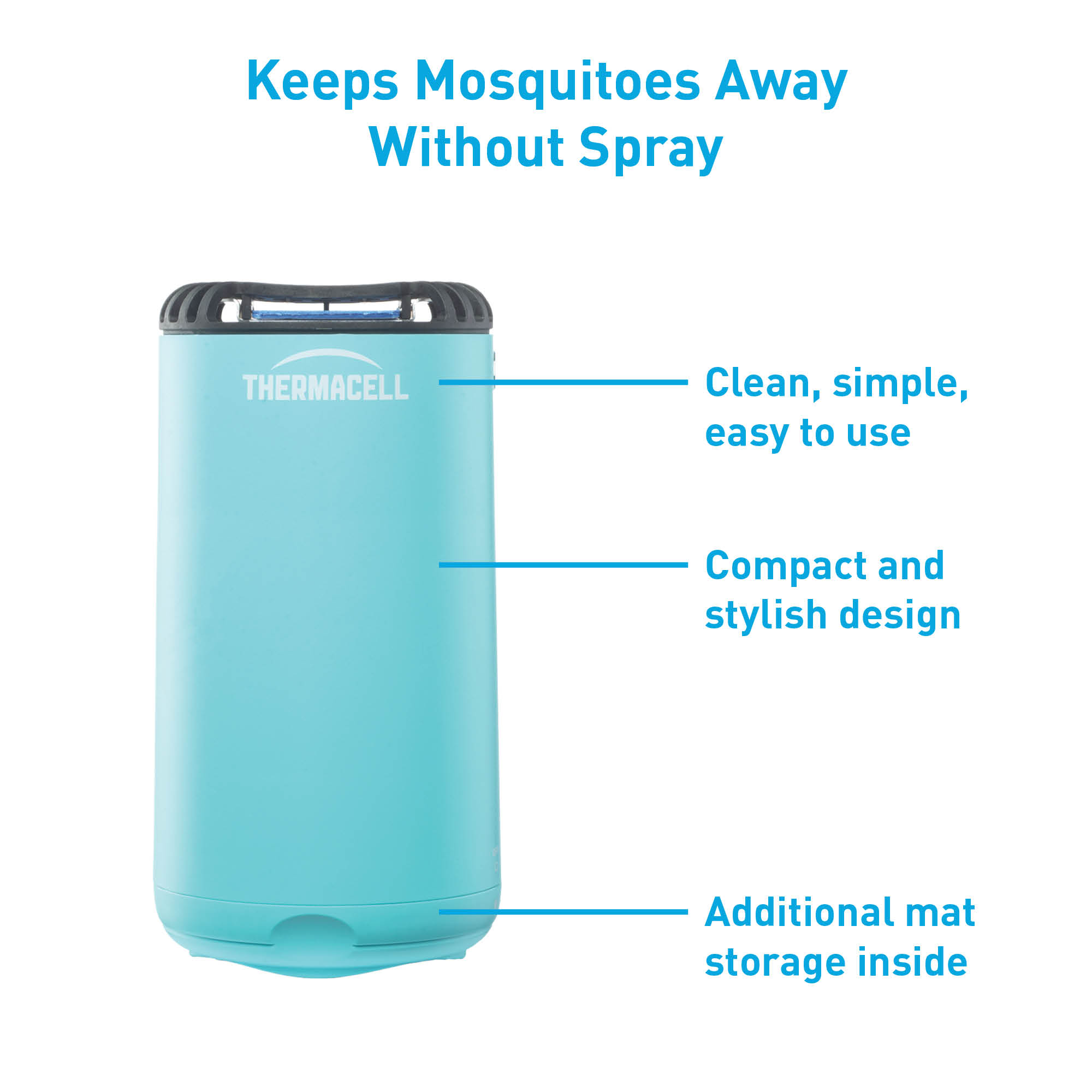 thermacell patio shield mosquito repeller glacial blue spray free