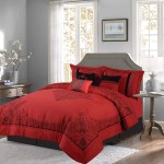 Empire Home Donna 8 Piece Comforter Set Over Sized Bed In A Bag Queen Size Red Black Walmart Com Walmart Com