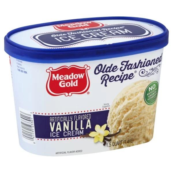 Meadow Gold Old Fashioned Recipe Vanilla Ice Cream 1.5 qt ...