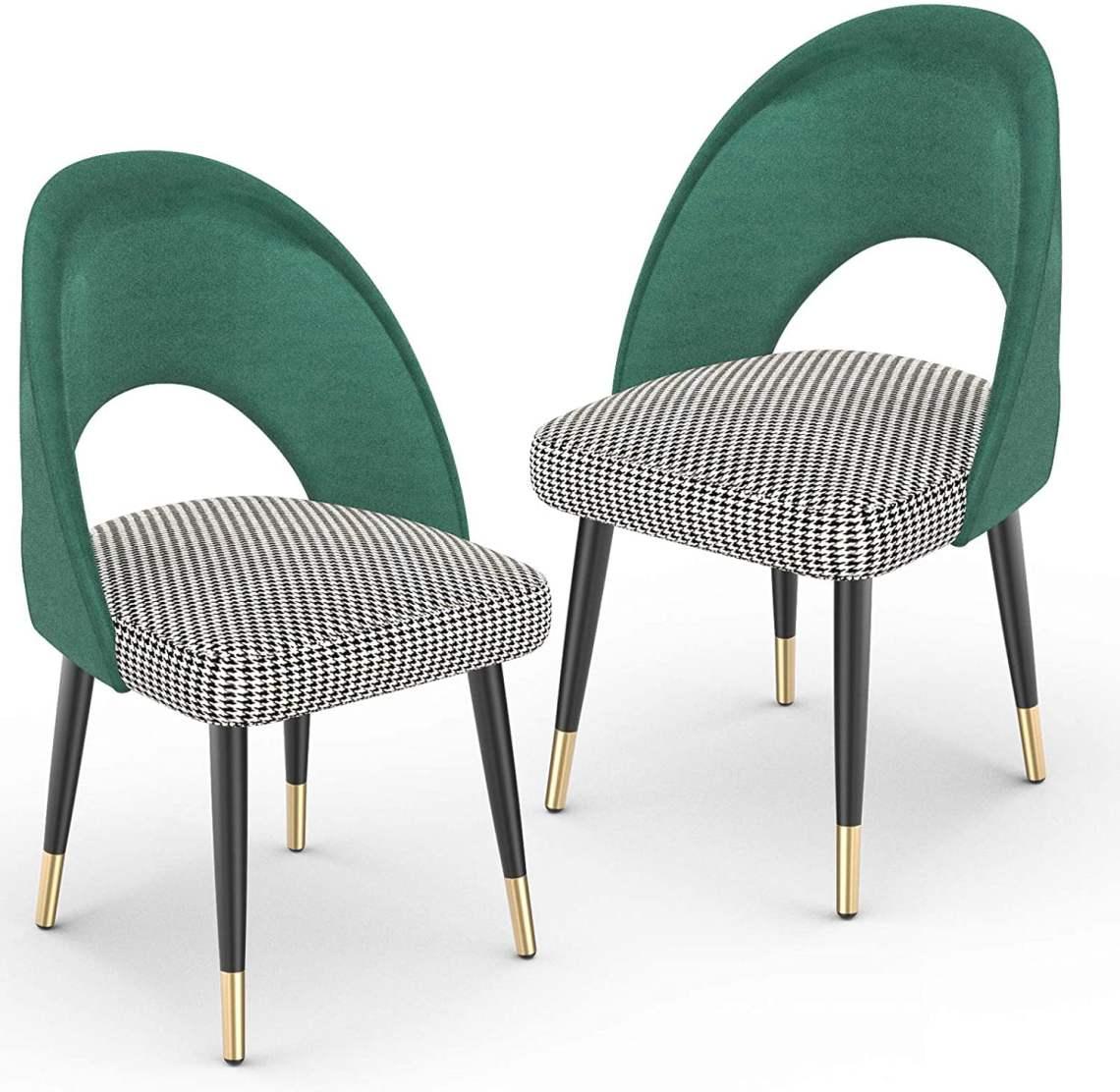 Mecor Modern Velvet Dining Chairs Set of 2, Velvet ...