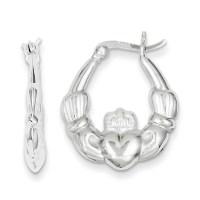 Kevin Jewelers - Sterling Silver Heart Hoop Earrings ...