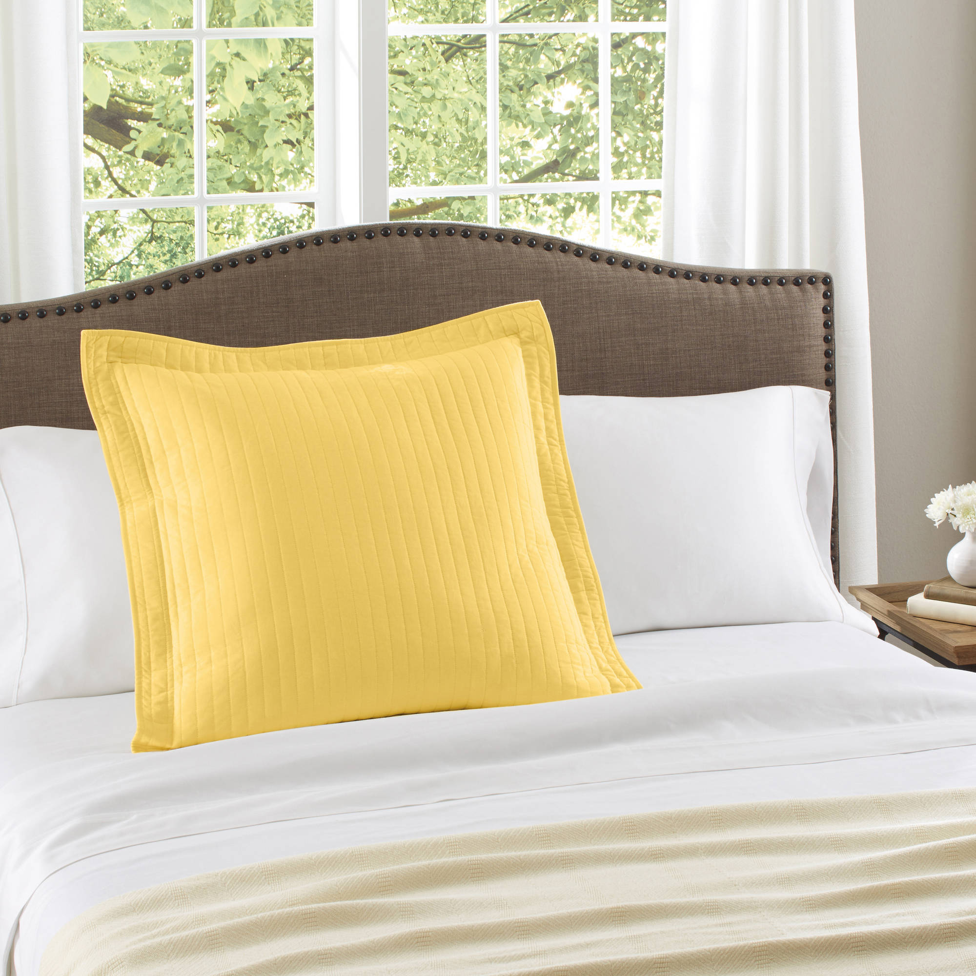 Better Homes and Gardens Solid Cotton Euro Sham  Walmartcom